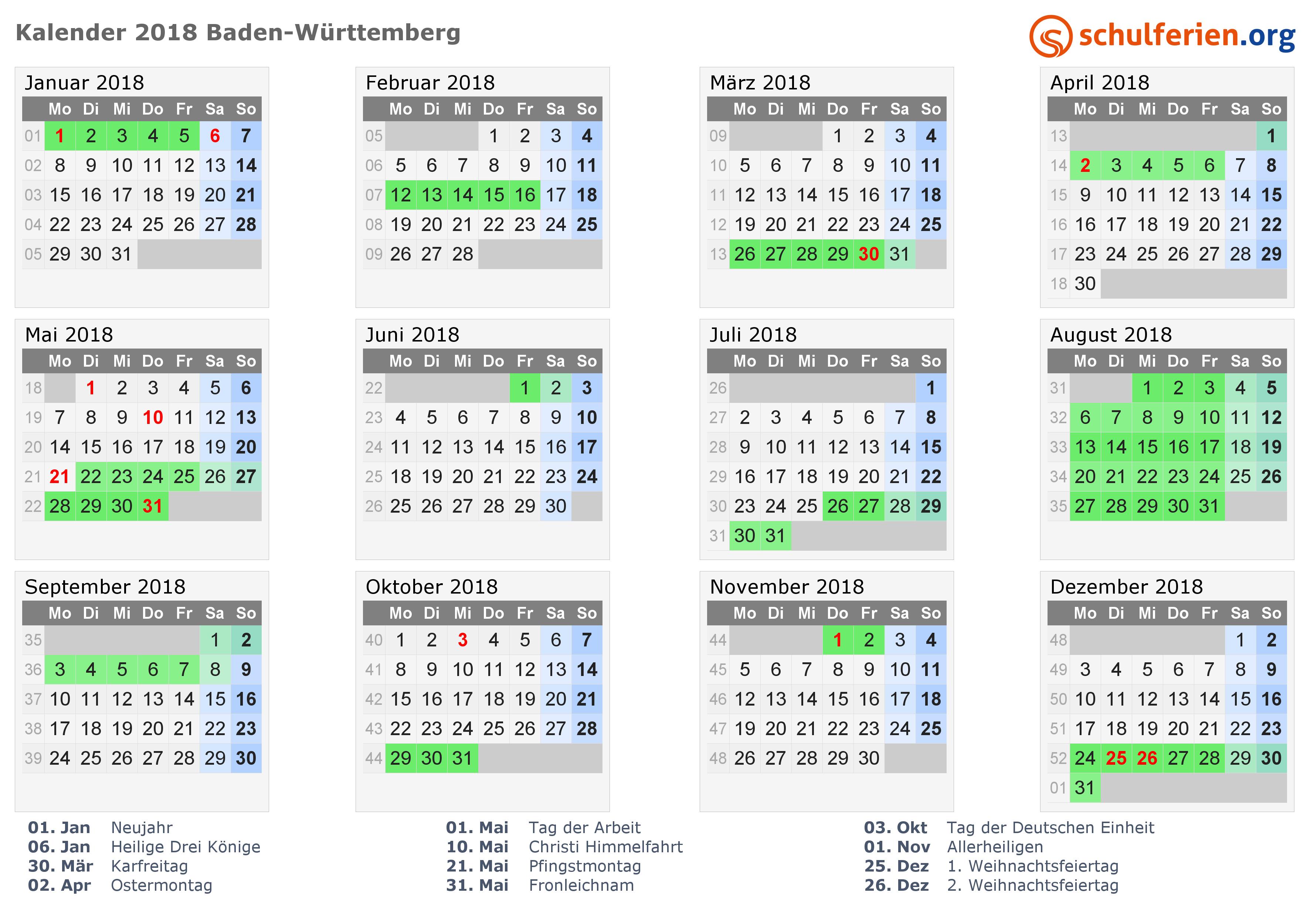 Ferienplan 2018 Musikwerkstatt WEingarten